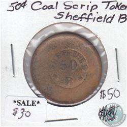 Coal Scrip Sheffield 50-cent Token B