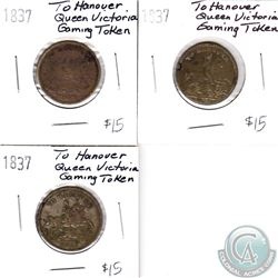1837 To Hanover Queen Victoria Tokens (3 pcs)