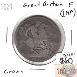 Great Britain 1821 Crown Fine (impaired)