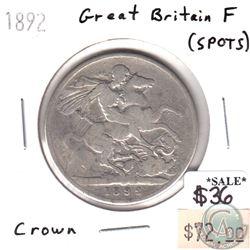 Great Britain 1892 Crown Fine (spots)