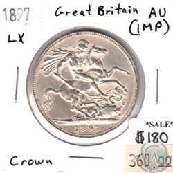 Great Britain 1897 LX Crown Almost Uncirculated (impaired)