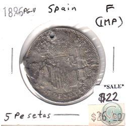 Spain 1896 PG-V 5 Pesetas Fine (impaired)