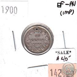 1900 Canada 10-cents EF-AU (impaired)
