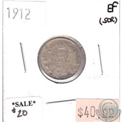 1912 Canada 10-cents Extra Fine (scratched)