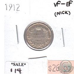 1912 Canada 10-cents VF-EF (nicks)