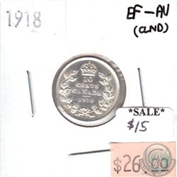 1918 Canada 10-cents EF-AU (EF-45) cleaned