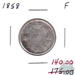 1858 Canada 20-cents Fine (F-12)