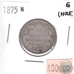 1875H Canada 25-cents Good (hole)