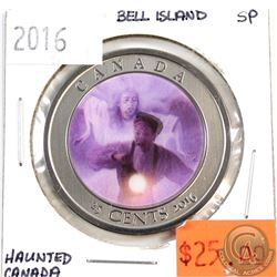 2016 25-cents Haunted Canada Bell Island (Lenticular) Specimen