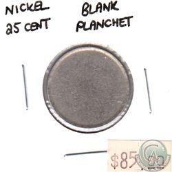 Blank Planchet 25-cent Nickel