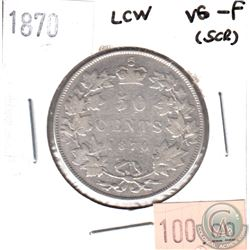 1870 LCW Canada 50-cents VG-F (VG-10) scratched