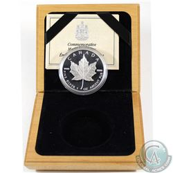 1989 Canada $5 1oz Fine Silver Proof Maple Leaf in Wooden Display Box with COA (Tax Exempt)