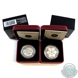 2012 Canada $20 Holiday Snowflake with Swarovski Crystal (capsule lightly scratched) & 2012 $20 Grou