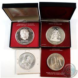 1972-1975 Bahamas $5 & $10 Commemorative Coin Collection. You will receive the following, 1972 $5 Un