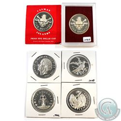 Lot of Silver Proof Coins from the Caribbean - 1973 Barbados $5, 1973 Barbados $10, 1973 Jamaica $5,