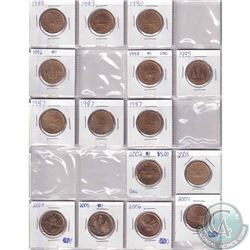 Estate lot of mixed dated 1968-2007 Canada Dollar Collection. Dates include: 1968, 1969, 1970-1986,