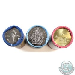 2005 Victory Special Wrapped, 2014 50-cent & 2017 Classic Loon Dollar Original Rolls. 3 rolls