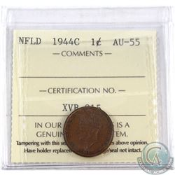 1944C Newfoundland 1-cent ICCS Certified AU-55