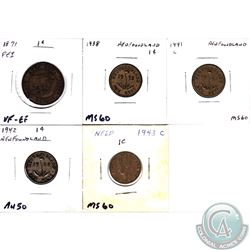 Estate Lot of Canadian Coins: Canada 1-cent - 1920, 1922, 1924, 1927, 1928, 1931, 1932, 1933, 1934,