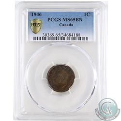 1946 Canada 1-cent PCGS Certified MS-65 Brown