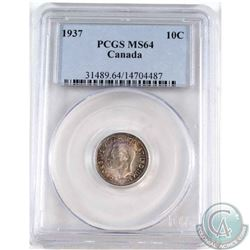 1937 Canada 10-cent PCGS Certified MS-64