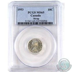 1953 Canada 10-cent PCGS Certified MS-65