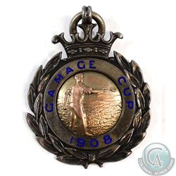 1908 Gamage Cup E.Q.A. B.I. Medal Hallmarked Sterling Silver 'JAW & Co.'