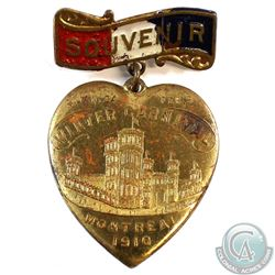 1910 Montreal Jan. 24 - Feb. 5 Winter Carnival Souvenir Medal with Pin. By Schwaabs & S. Co. Milwauk