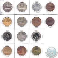 14x Miscellaneous Sudbury Ontario Medallions including 1x Silver Big Nickel Medal. 14pcs