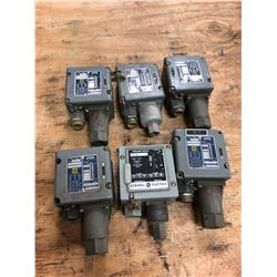LOT OF SQUARE D PRESSURE SWITCHES