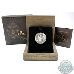Australia; Perth Mint 2016 Tuvalu $2 Norse Gods - Thor 2oz Antique Finish High Relief Fine Silver Co