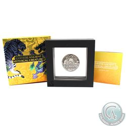 Australia; Perth Mint 2016 Tuvalu $2 Chinese Ancient Mythical Creatures 2oz.999 Proof Silver (Tax Ex