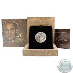 Australia; Perth Mint 2017 Tuvalu $2 Norse Goddesses - Frigg 2oz Antique Finish High Relief Fine Sil
