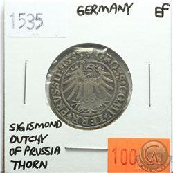 Germany 1535; Thorn; Sigismond Dutchy of Prussia; EF