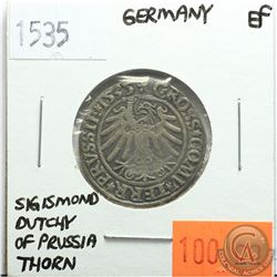 Germany 1535; Thorn; Sigismond Dutchy of Prussia; EF