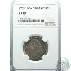Great Britain 1745 Shilling; Lima NGC Certified XF-45
