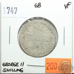 Great Britain 1747 Shilling; George II; VF