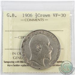 Great Britain 1906 1/2 Crown ICCS Certified VF-30 *key date*