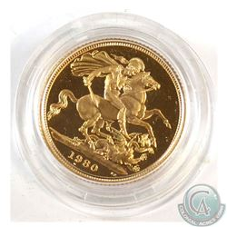 Great Britain 1980 Gold Proof Sovereign in original Display Case with C.O.A.