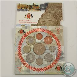Isle of Man: Rare  2000 Isle of Man Decimal Proof 9-coin Collection issued by the Pobjoy mint.