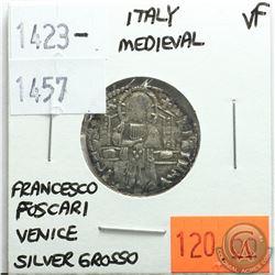 Italy Medieval 1423-1457 Silver Grosso; Francesco Foscari; Venice; VF
