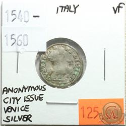 Italy 1540-1560 Silver; Anonymous City Issue; Venice; VF