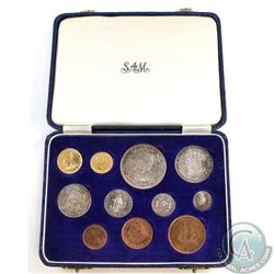 South Africa; KM-PS29 1954 11-coin Proof Set in Original mint issued clamshell case. Set includes th