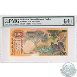 Sri Lanka, 1979 Central Bank of Ceylon 100 Rupees, S/N: Z/9 447002, Pick# 88a, Wmk: Chinze. PMG Cert