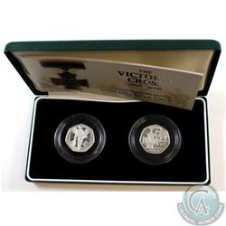 United Kingdom; Royal Mint 1856-2006 United Kingdom 50-Pence 'The Victoria Cross' Sterling Silver Pr