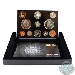 United Kingdom; Royal Mint 2008  11-coin Proof Set. Coins come housed in all original Mint Issued Pa