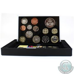 United Kingdom; Royal Mint 2010 United Kingdom 13-coin Proof Set. Coins come housed in all original