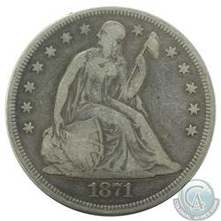 USA 1871 Silver $1 F-VF