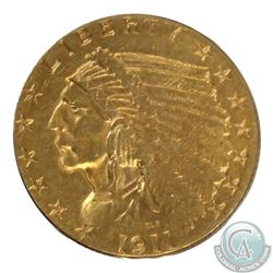USA 1911 2.50 Dollar Indian Head Gold Coin in Good Condition. Coin contains 0.121oz of Pure Gold.