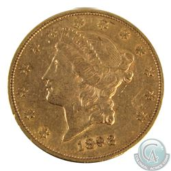 USA 1892-S $20 Gold Liberty Head Double Eagle VF-EF